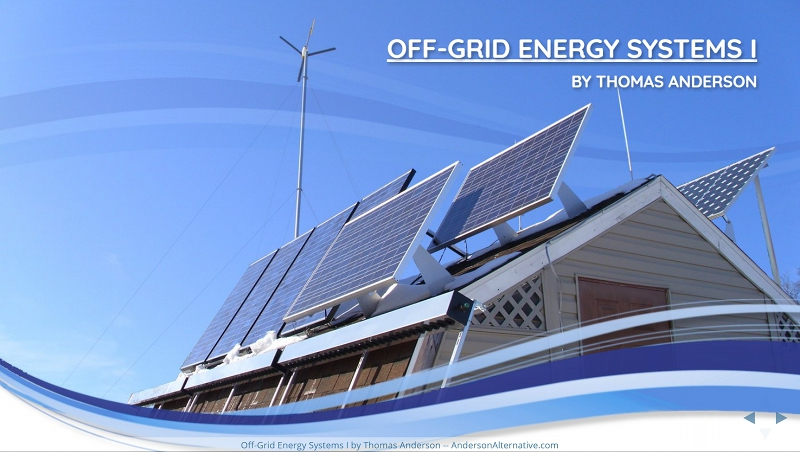 Off Grid Energy Systems I