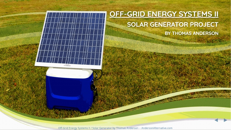 Off Grid Energy Systems II